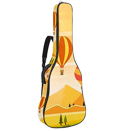 Bolsa para Guitarra Puesta de sol en globo Funda para Guitarra Acústica...
