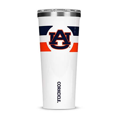 Corkcicle Tumbler - 24oz NCAA Triple Insulated Stainless Steel Travel Mug, Auburn University Tigers, Gym Stripe