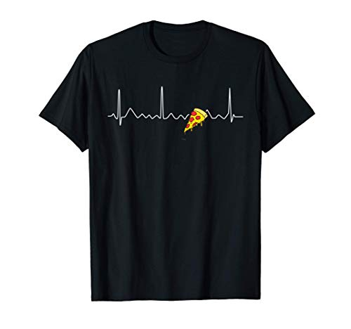 Pizza Heartbeat Tee Funny Gifts For Pizza Lovers T-Shirt