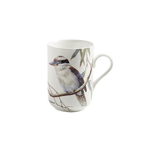 Maxwell & Williams PBD140 Birds of Australia Becher, Kaffeebecher, Tasse mit Vogelmotiv: Kookaburra, in Geschenkbox, Porzellan