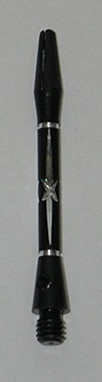 US Darts - Diamond Cut STAR Black Dart Shafts - 2 Sets (6 shafts), 2BA Short