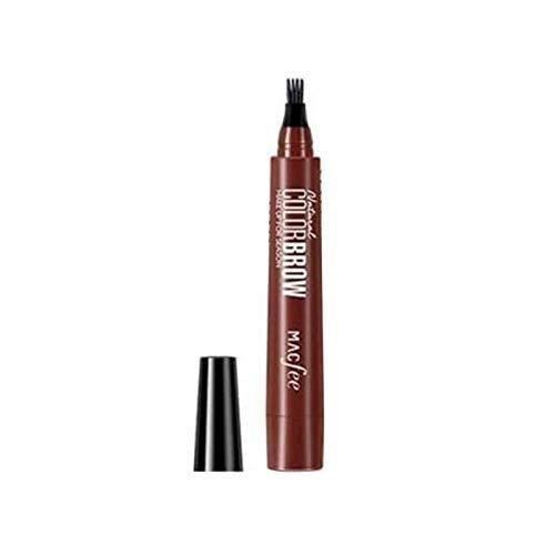 Correct Crayon À Sourcils 4 Points, Longue Durée Stylo À Sourcils Imperméable À l'eau Tattoo Brow Crayon pour Différents Tons De Peau