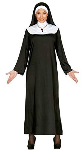 Fiestas Guirca Schwester Cristina, Kostüm für Schwestern, mit Kopfbedeckung, für Damen, Schwarz, 40/44