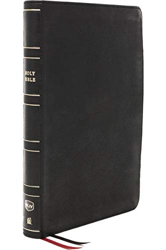 Holy Bible: New King James Version, Thinline Reference Bible, Genuine Leather, Black, Red Letter, Comfort Print