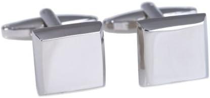 Rodium Plated Square Cufflinks, J146