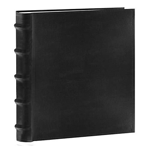 Pioneer Photo Albums 200-Pocket European Bonded Leather Photo Album for 5 by 7-Inch Prints, Black