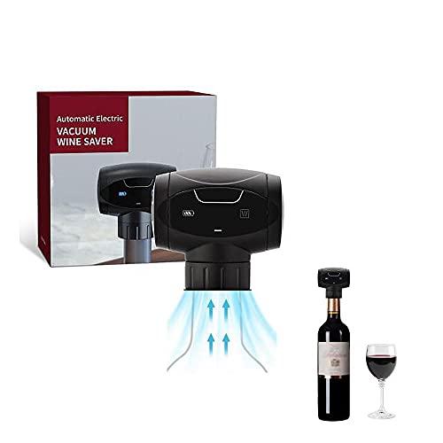KLT Tapón de vino eléctrico es una bomba de vacío reutilizable con silicona de grado alimenticio que puede mantener el vino fresco. Es el mejor regalo de accesorio para vino de vino con tapón al vacío