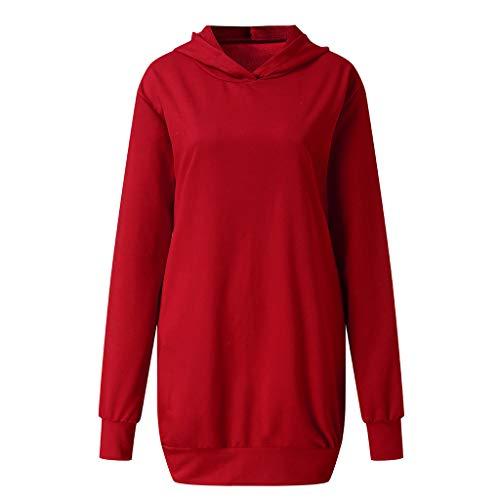 NPRADLA 2020 Herbst Damen Kapuzenpullover Elegant Frauen Hoodie Langarm Lange Sweatshirt Jumper Pullover