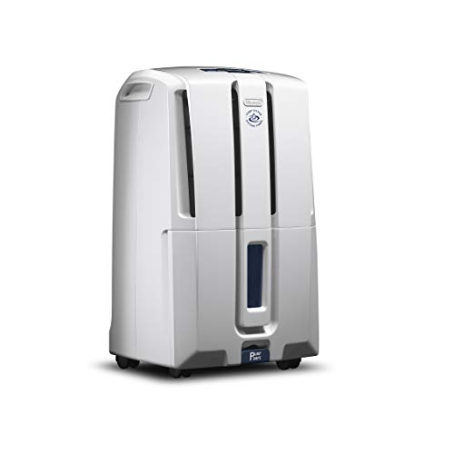 De'Longhi 50 Pint Dehumidifier with Built In Pump 24-Hour On/Off Timer, Energy Star 2.0, DDX50PE, White