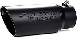 Sinister Diesel SD-4-6-BLK Black Exhaust Tip (4in to 6in) (Ceramic Coated Stainless Steel)