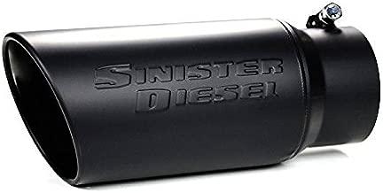 Sinister Diesel Black Ceramic Coated Stainless Steel Exhaust Tip (4