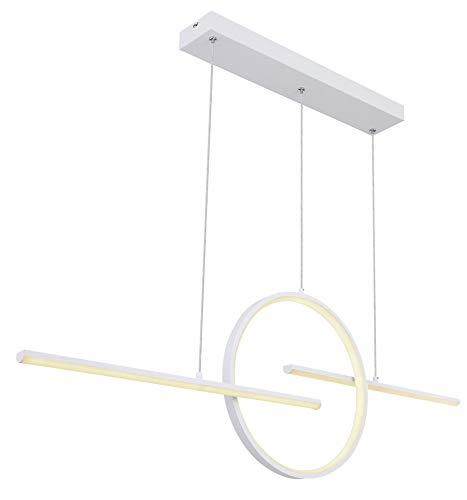 Lámpara de techo LED, color blanco opal, iluminación regulable