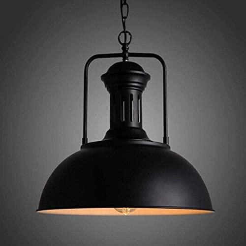 LLLKKK Lámpara de techo estilo americano rústico, creativa, retro, industrial, ajustable, luz de pluma, vintage, restaurante, metal de hierro, E27 Edison (color: negro)