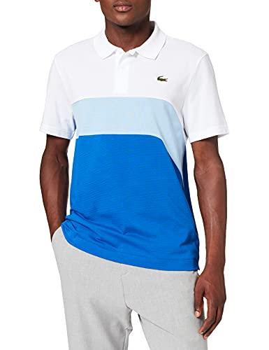 Lacoste YH9643 Camisa de Polo, Blanc/Nattier 07E-Lazuli, M para Hombre