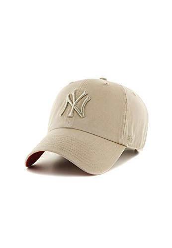 Casquette 47 Brand – Mlb New York Yankees Clean Up Curved V Relax Fit kaki taille: Réglable