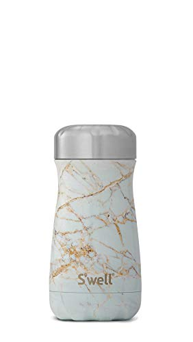 S'well 10312-B17-01010 Stainless Steel Travel Mug, 12oz, Calacatta Gold