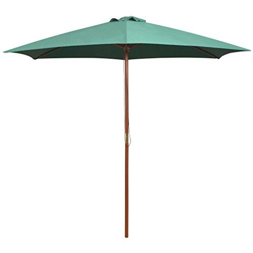 vidaXL Sombrilla de Pie Jardín 270x270cm Verde Parasol Pedestal Toldo Cubierta