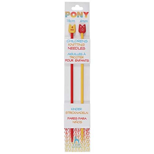 Pony Plastic Children's Single Ended Knitting Needle
