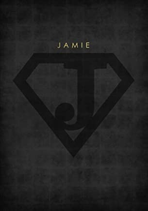 Personalized Name Book for Jamie with Superhero Logo (7x10 Notebook with Lined Pages): A Cool And Motivational Journal/Composition Book To Write In For Guys