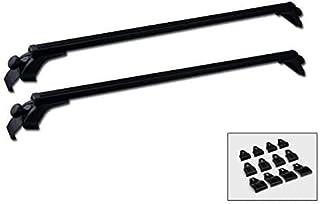 "MPH Production 2Pcs 50 ""(127cm) Universal Fit نقره ای قابل تنظیم با پنجره قاب آلومینیومی قابل حمل با سقف باریک حمل بار با کمک 3 جفت گیره نصب (2 عدد)"