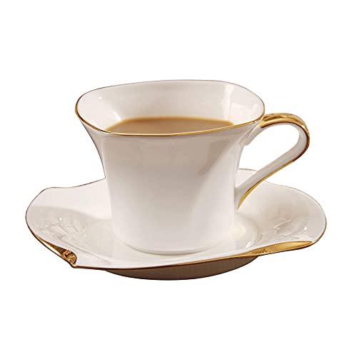 SXXYTCWL Copa de café Hueso de la taza de agua de 120 ml de la taza de agua de la taza de agua de la taza del desayuno de la cafetera del asunto de la cafetera del café de la taza del latte taza de la