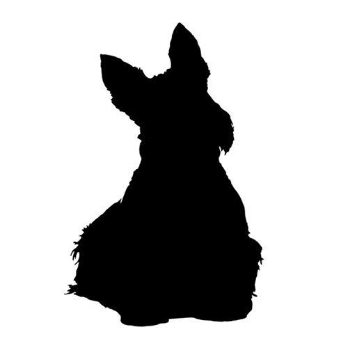 Empty 3 Stück Auto Aufkleber und Abziehbilder 9 * 13CM Scottish Terrier Hund Wasserdicht Selbstklebend für Laptop Skateboard Gitarre Moto Car Bike DIY Party Patches Abziehbild-Schwarz