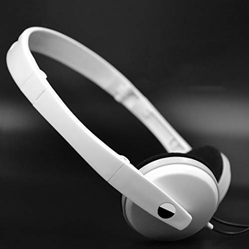 CFSAFAA Headset SKTY 3.5mm Plug Head-Mounted Heavy Basso Wandering Computer Universal Gaming Headset Gaming Headset (Color : White) Use Speakers Close to Your Ears to Convert Them in