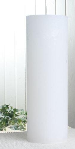 Rustik Stumpenkerze Weiß, Höhe 30 cm Ø 10 cm.