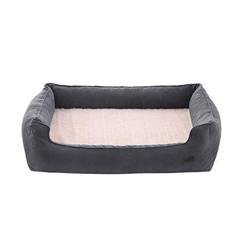 FEANDREA Hundebett für große Hunde, orthopädisches Hundesofa, waschbar, grau PGW15GV1