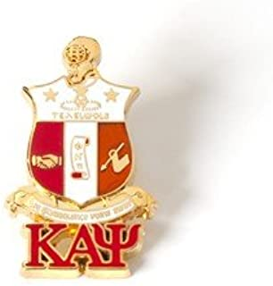 Kappa Alpha Psi 3D Color Shield Pin w/letters