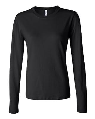 Bella Womens Long-Sleeve Crew Jersey T-Shirt 6500