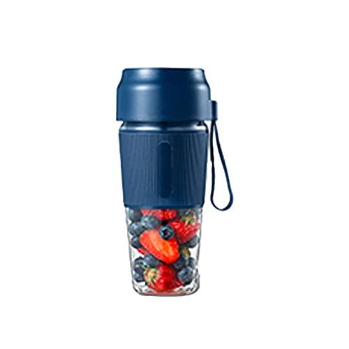 Prasacco Batidora personal, Mini batidora portátil para batidos y batidos de mano, recargable 1500 mAh, máquina mezcladora de frutas, 300 ml, USB, mini exprimidor de hielo para hogar y viajes