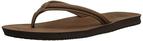 Reef Women's Sandals Woven | Slim Woven Flip Flops for Women With Cushion Bounce Footbed | Waterproof, Tobacco, 7