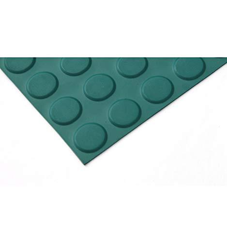 Pavimento Circulo caucho 3mm, color Verde. Lestare 15,00x1,00 m y 3 mm espesor