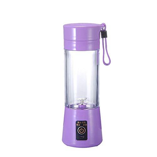 B/H Mini Licuadora Portátil,Exprimidor portátil Multifuncional para el hogar exprimidor Cup-Purple_Two Hojas