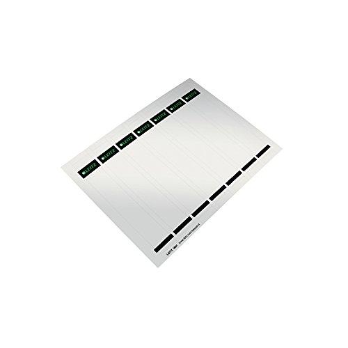 Leitz PC-beschriftbare Ordnerrücken Etiketten für Qualitäts-Ordner 180°, 175 Stück aus Karton, Kurzes und schmales Format, 31 x 190 mm, grau, 16810085