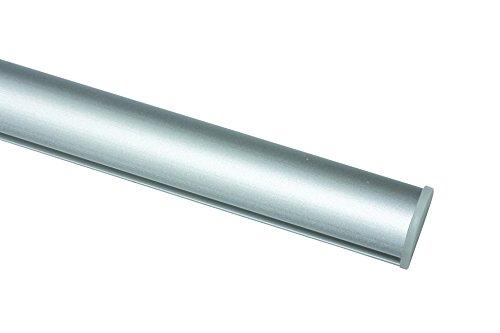 Gardinia Unterprofil zum Klipsen für Flächenvorhänge, Inklusive Klebestreifen, Aluminium, 60 cm, Silber
