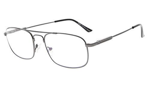 Eyekepper 3 Livelli di Visione Multifocus UV Occhiali da Lettura Protezione Progressiva Lettori da Uomini Donne Bendable Memoria Montatura (Canna di fucile, 2.50)