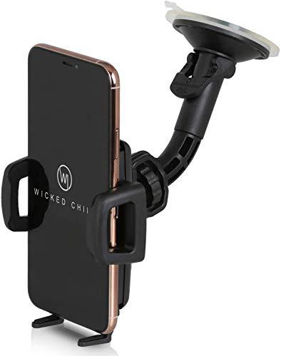 Wicked Chili Universal KFZ Halterung kompatibel mit iPhone 12 Pro Max, 11 Pro Max, XS Max, Samsung Galaxy S20 Ultra, S20+, Note 20 Ultra, Made in Germany (Breite 56-86mm, für Hülle und Case) schwarz