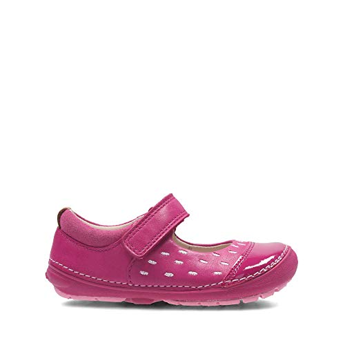 Clarks Softly Lou Fst Pink Leather - Pink Leather - 7.5 UK Child