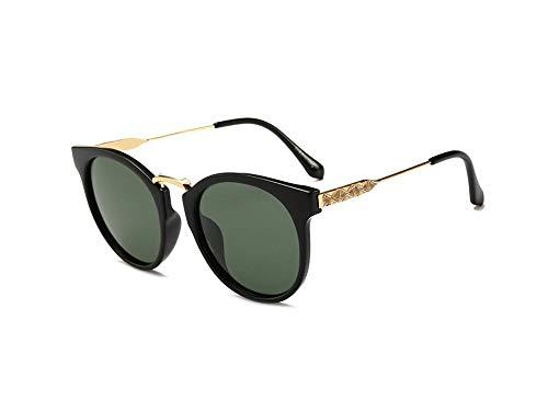 ERKEJI Gafas de Sol para Mujer Marea polarizadas Retro de Gama Alta Gafas de Sol