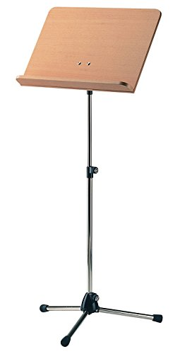 Konig & Meyer 11819-500-01 680mm a 1210mm Ajustable Orchestra Music soporte con Haya Escritorio de madera - Níquel ✅