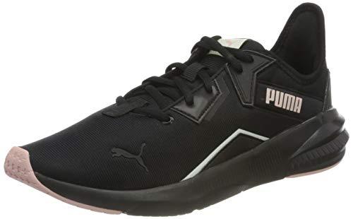 PUMA Damen Platinum Shimmer WN\'s Gymnastikschuh, Black-Peachskin, 40.5 EU