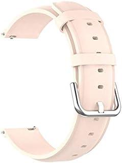 Watchbands - أحزمة جلدية لساعة Realme بسوار معصمه سوار معصمه كوريا لملحقات الساعة الذكية Realme 20 مم (وردي فاتح لساعة Realme
