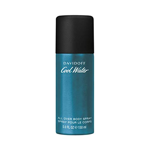 DAVIDOFF Cool Water Man Deodorant Natural Spray, All Over Body Spray, aromatisch-frischer Herrenduft, 150 ml