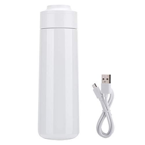 Changor Portátil Aspiradora Taza, DIRIGIÓ con Inoxidable Acero USB Cargadura 400ml por Viaje USB Cargadura