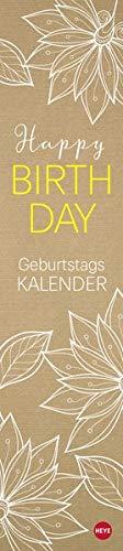 Chalk Drawing Geburtstagskalender long - immerwährender Kalender mit Monatskalendarium - Format 11 x 49 cm
