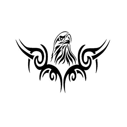 PJYGNK Sticker de Carro 16 CM * 10,4 CM Moda Tribal Cabeza de águila decoración Coche-Estilo Pegatina de Coche calcomanía Vinilo Negro/Plateado C15-0923