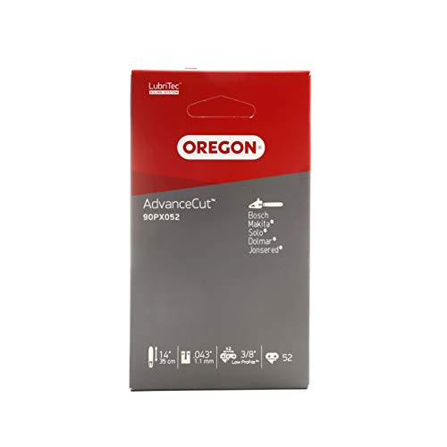 Oregon AdvanceCut 90PX Sägekette passend für 35 cm Bosch, Dolmar, Einhell, Grizzly, Makita, Ryobi Motorsägen, 52 Treibglieder