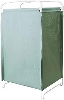 Gamssdllsxyl Oanier Rangement, Cadre de Fer + Buanderie en Mesh Panier de Linge ménage Pliable et Lavable Taille 30.5cm * ...